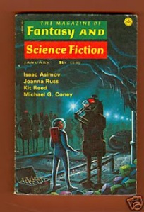 My Boat by Joanna Russ was published in Fantasy And Science Fiction Magazine, January 1976, cover by David Hardy.
