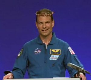 Astronaut Stan Love accepted the John W. Campbell Award on behalf of Andy Weir last weekend. Love even wore the traditional Campbell Tiara while he read Andy's remarks.