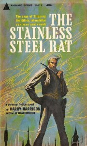 The 1961 paperback edition of The Stainless Steel Rat, cover art by John Schoenherr