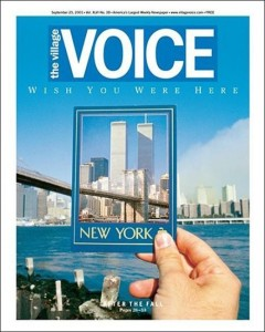 Cover of the Sept 21, 2001 edition of the Village Voice.