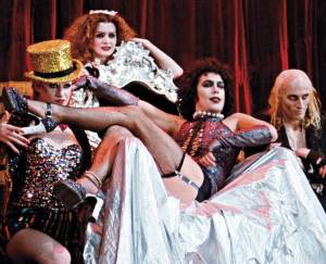 Frank, Riff -Raff, Magenta and Columbia from the original Rocky Horror Picture Show.