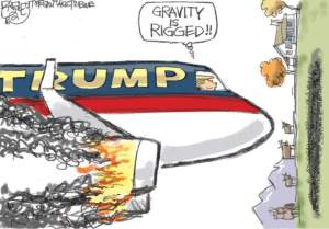 """Gravity is rigged"" © Pat Bagley, Salt Lake Tribune."