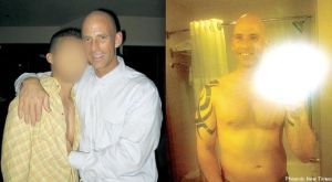 Babeu and his ex on the right. One of Babeu's pictures he posted along with his ads seeking sex with other men on a local gay chat server.