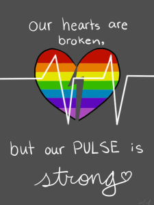 """Our hearts are broken, but our pulse is strong."""