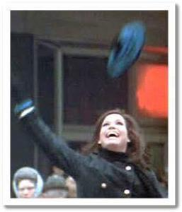 The famous hat toss from the title sequence of the Mary Tyler Moore Show.