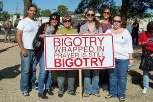 """Bigotry wrapped in prayer is still bigotry"""
