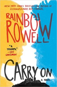 Cover of Carry On, by Rainbow Rowell, cover design by Olga Grlic (click to embiggen)
