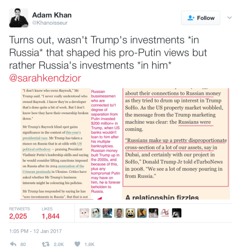 """Turns out, it wasn't Trump's investments in Russia that shaped his pro-Putin views, it was Russia's investment in him."" (Click to embiggen)"