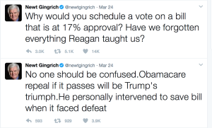 Newt goes from anticipating victory to trying to pretend he understood it's a lost cause in just 7 hours.