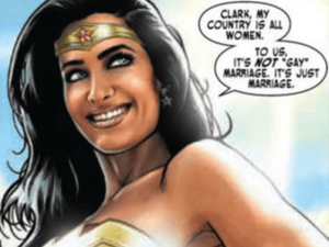 """""""Clark, my country is all women. To us, it's not 'gay marriage,' it's just marriage."""""""