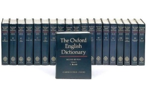 The most recent edition of the full OED. Please note that this isn't 20 copies of the same book; it takes these 20 volumes to add up to one dictionary!