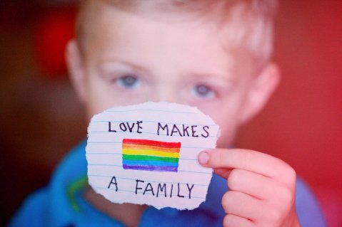 Love makes a family.