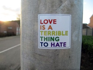 """Love is a terrible thing to hate."""