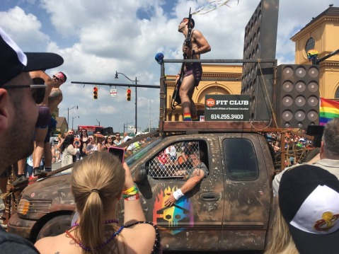 Fit Club of Columbus Ohio did a Mad Max: Fury Road recreation for the Columbus Pride Parade last weekend. They ride eternal--shiny and queer!