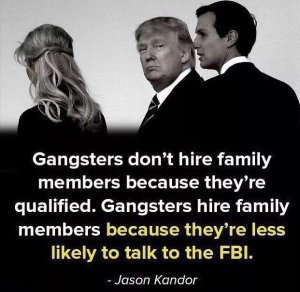 """Gangsters don't hire family members because they're qualified. Gangsters hire family members because they're less likely to talk to the FBI."""