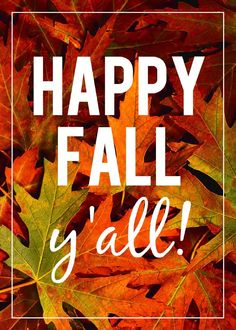 """Happy Fall, y'all!"""