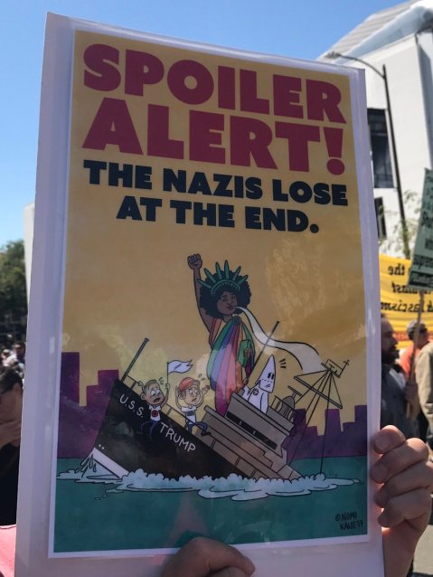 """Spoiler Alert! The Nazis lose at the end."""