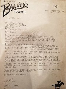 A very interesting letter from another team owner back in the days when Donald was a sports team owner. (Click to embiggen)