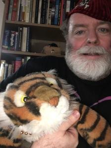 Floppy tiger makes the best helper!