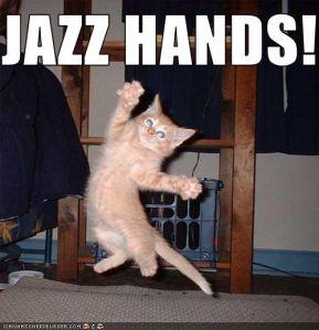 """Jazz Hands!"" - ICanHasCheezeburger.Com"