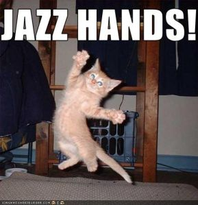"""Jazz Hands!"" - ICanHasCheezeburger.Com"