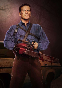 Ash Williams (as portrayed by Bruce Campbell), unlikely savior of the world.