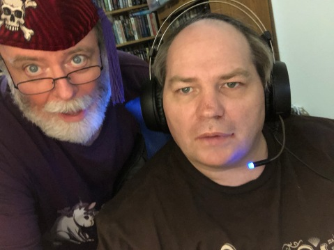 Yeah, that handsome young guy with the headset on is my husband. How did a white-bearded old fart like me manage that?
