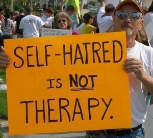 """Self-hatred is NOT therapy"""