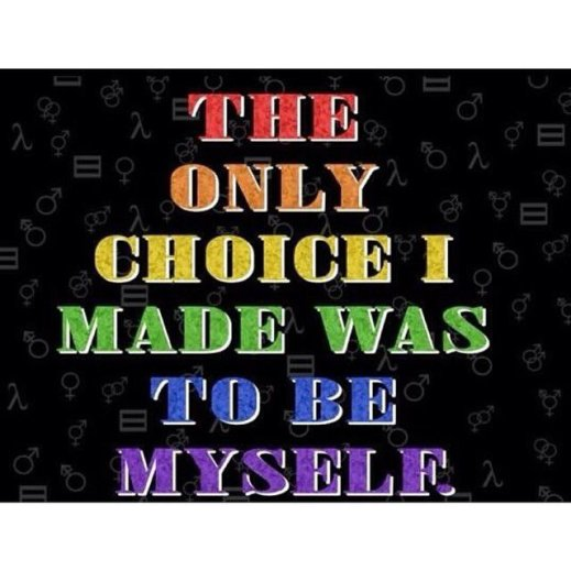 """""""The only choice I made was to be myself."""""""