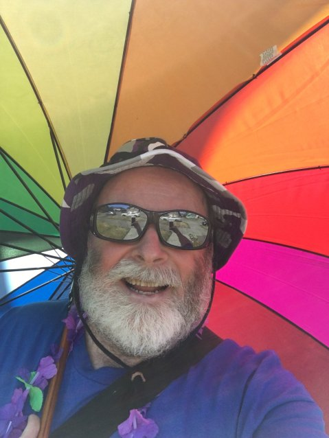 Me with my rainbow parasol