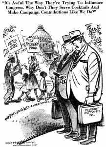 This cartoon by Herb Block  (Herblock) was first published in The Washington Post in 1968. It is