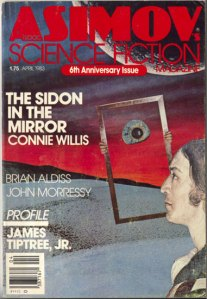 Asimov's Science Fiction Magazine, April 1983. Cover art by Marc Yankus.