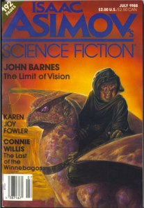 Asimov's Science Fiction Magazine, July 1988. Cover art by Bob Eggleton.