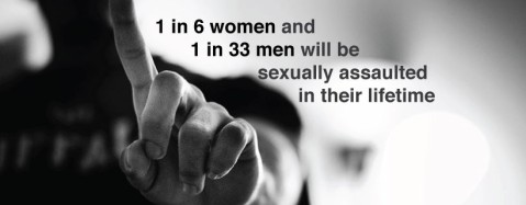 """1 in 6 women and 1 in 33 men will be sexually assaulted in their lifetime."""
