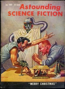 Cover of the January 1959 edition of Astounding Science Fiction