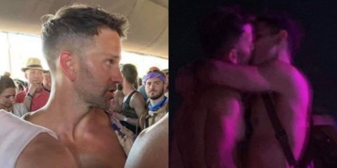 Virulently anti-gay disgraced former congressman caught making out with a guy with his hands down the guy's pants at Coachella.
