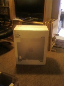 One of the pictures I took after the delivery of my Mac Pro desktop machine 10 years ago today.