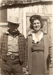 An undated photo of my great-grandparents.