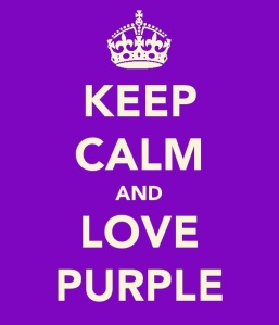 """Keep calm and love purple"""