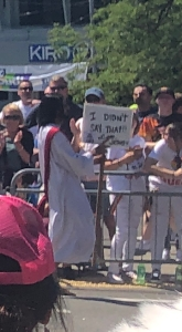 """The sign reads, """"I didn't say that! Love, Jesus"""""""