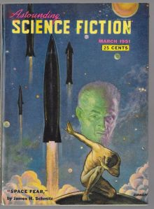 Astounding Science Fiction, March 1951 issue, cover art by Paul Orban.