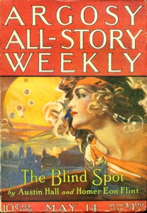 The May 14, 1921 cover of Argosy All-Story Weekly,  illustration by P. J. Monahan
