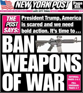 """President Trump, America is scared and we need bold action. It's time to Ban Weapons of War"""