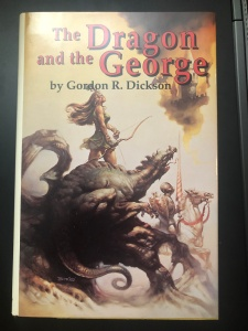 My copy of The Dragon and the George, which I never realized was a fist edition until I was researching for this blog post.