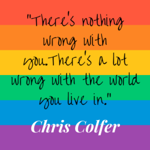 """There's nothing wrong with you. There's a lot wrong with the world you are in."" —Chris Coffer"