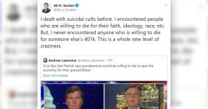"""""""I never encountered anyone who is willing to die for someone else's 401k. This is a whole new level of craziness."""" — former FBI special agent Ali H. Soufan"""