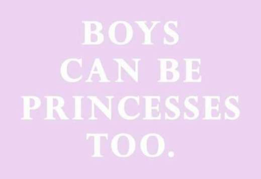 """""""Boys can be Princesses, too."""""""