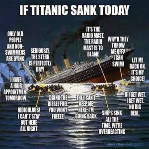 If the Titanic sank today...