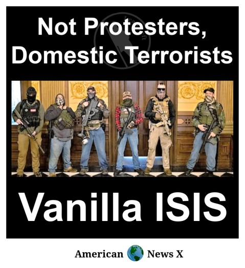 Not protestors, Domestic Terrorists - Vanilla ISIS.