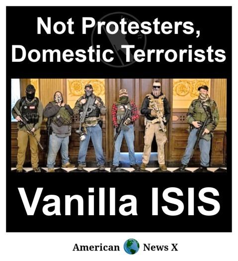 Not protestors, Domestic Terrorists - Vanilla ISIS.